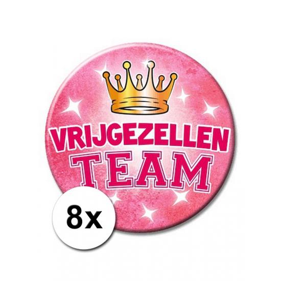 Bachelorette XXL buttons vrijgezel 8 st