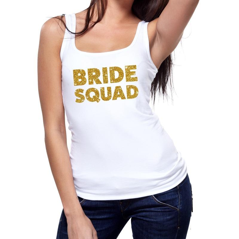 Bride Squad gouden vrijgezellenfeest tanktop / mouwloos shirt wi