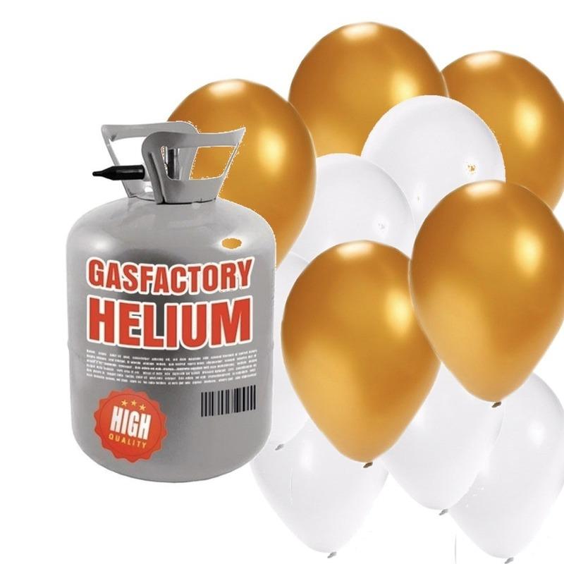 Helium tank met bruiloft 30 ballonnen