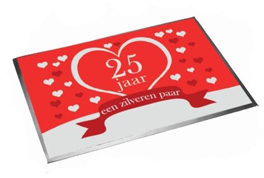 Deurmat jubileum 25 jaar getrouwd