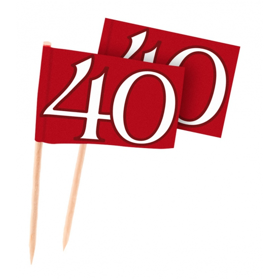 40 jaar jubileum cocktailprikkers