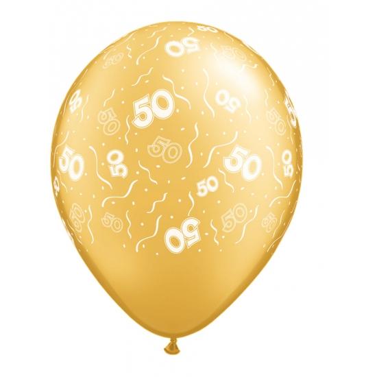 50 jaar jubileum ballonnen 5 stuks