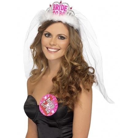 Spiksplinternieuw Vrijgezellen tiara Bride to Be - Bruiloft versiering en feestwinkel VZ-78